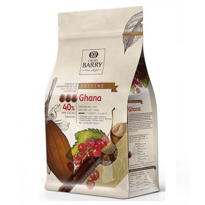 Chocolat de Couverture au Lait origine Ghana 1 Kg