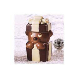 Moule chocolat ourson cadeau 3D