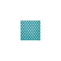 20 Serviettes en papier turquoise pois blancs
