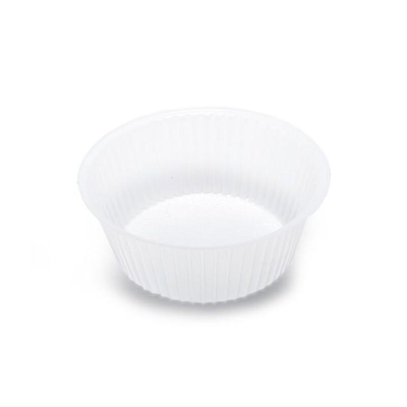 Caissette rondes en plastique 8,5 cm