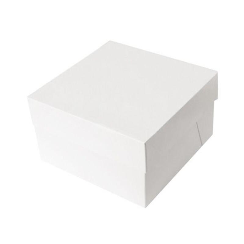Boîte à gâteau carrée 21 cm hauteur 15 cm