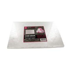 Carton rectangle argent Patisdecor (pièce)