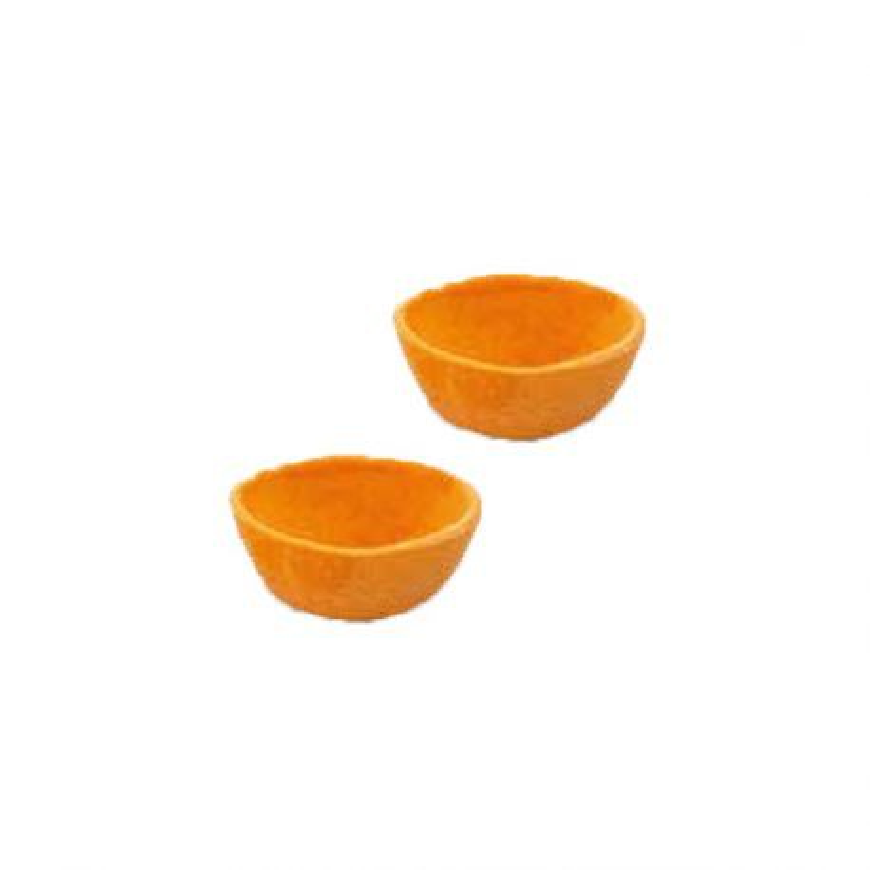 Coupelles hautes oranges prêtes à garnir (x24)
