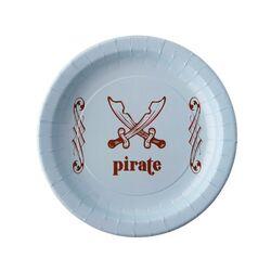 Assiette en carton bleu Pirate (x6)