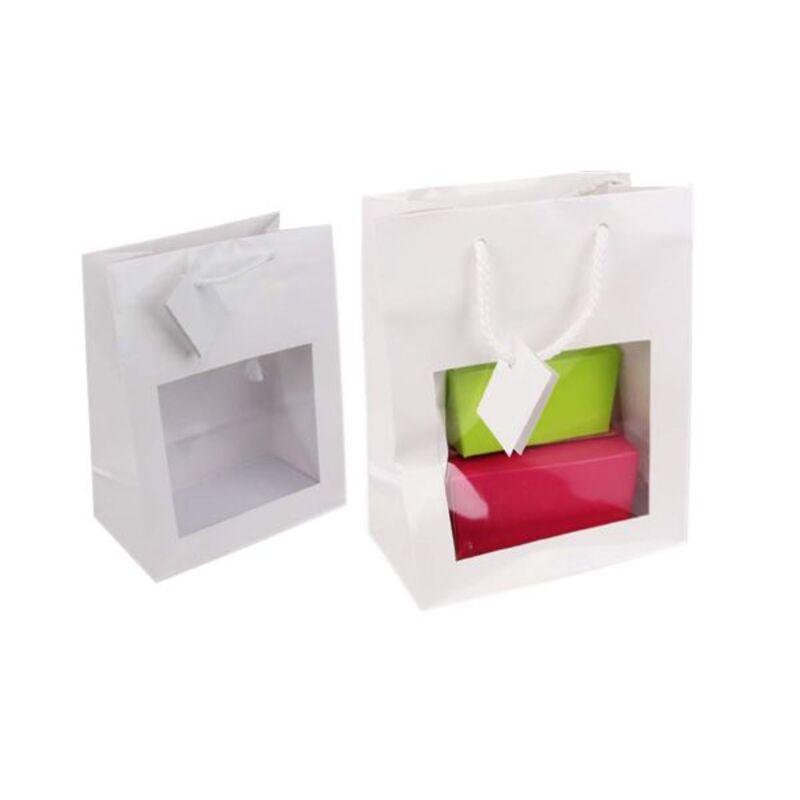 Sac vitrine blanc avec carte message (x25)