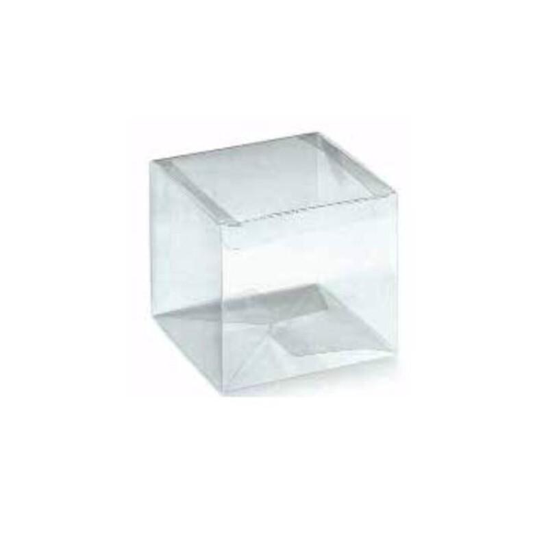 Boîte cube transparente fond Automatique (x10)
