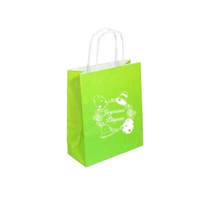 Sac cabas Joyeuses Pâques vert (x25)