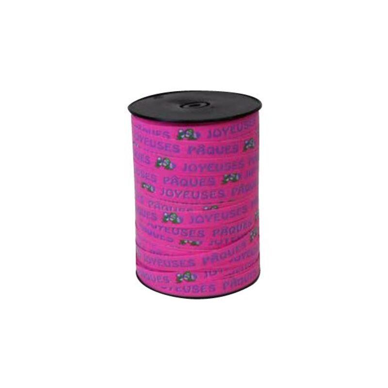 Bolduc Joyeuses Pâques rose 10mm (228 m)