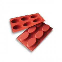 Moule silicone 6 ovales