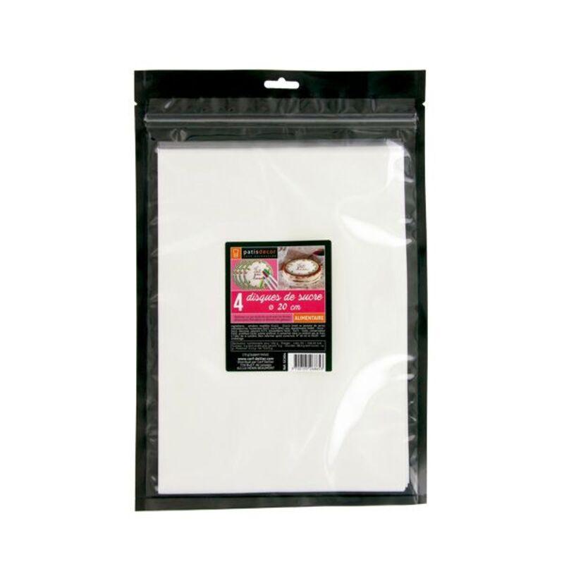 Disque en sucre Pastisdécor 20 cm (x4)