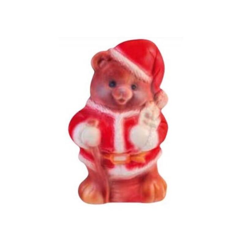 Moule chocolat ourson de Noël 3D