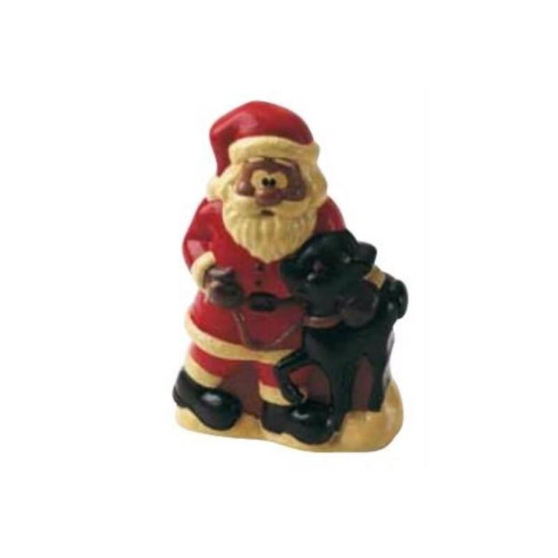 Moule chocolat Père Noël et faon 3D