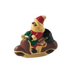 Moule chocolat Père Noël sur sa moto 3D