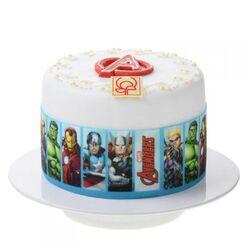 Contour de gâteau Avengers sucre