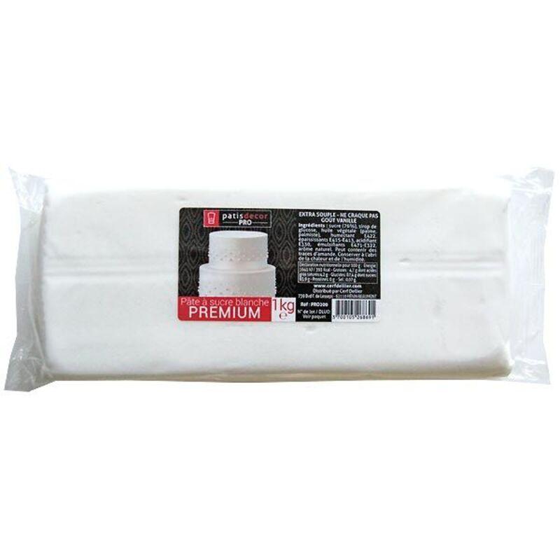 Pâte à sucre blanche premium Patisdécor Pro 1kg