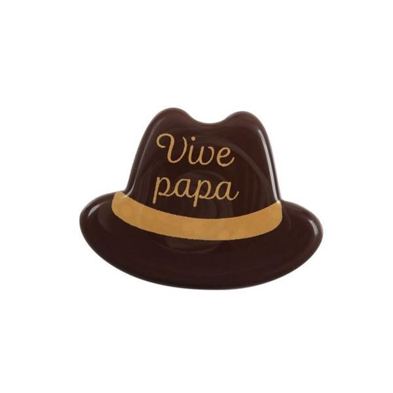Chapeau chocolat noir Vive Papa (x75)