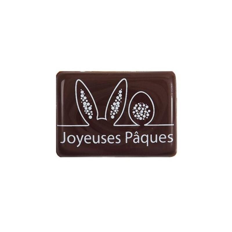Plaquettes chocolat noir Joyeuses Pâques (x120)
