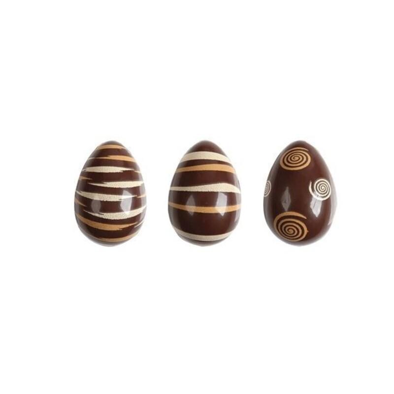 Oeufs chocolat rayés marrons (x64)