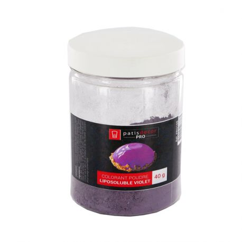 Colorant alimentaire liposoluble poudre violet 40 g