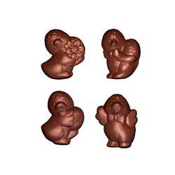 Moule friture en chocolat petits canards 4 g