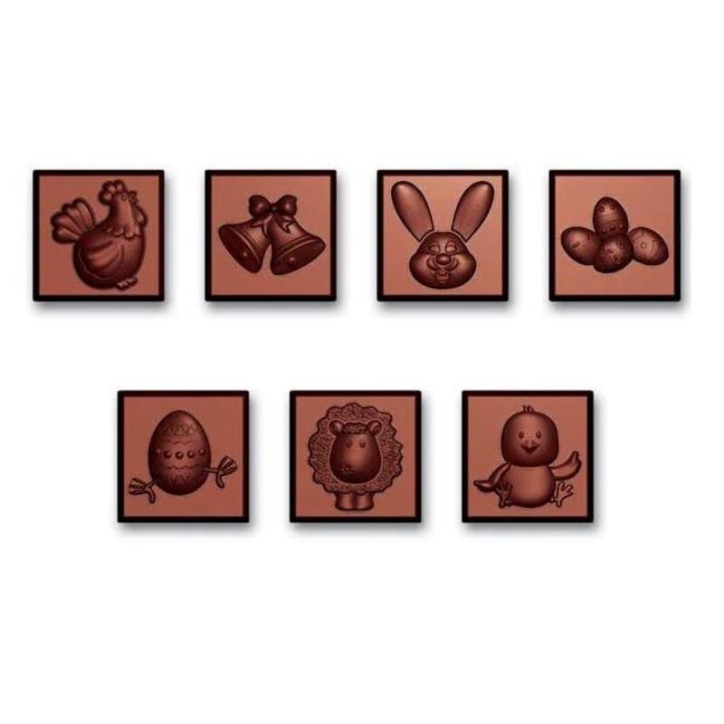 Moule carrés chocolat napolitains Pâques