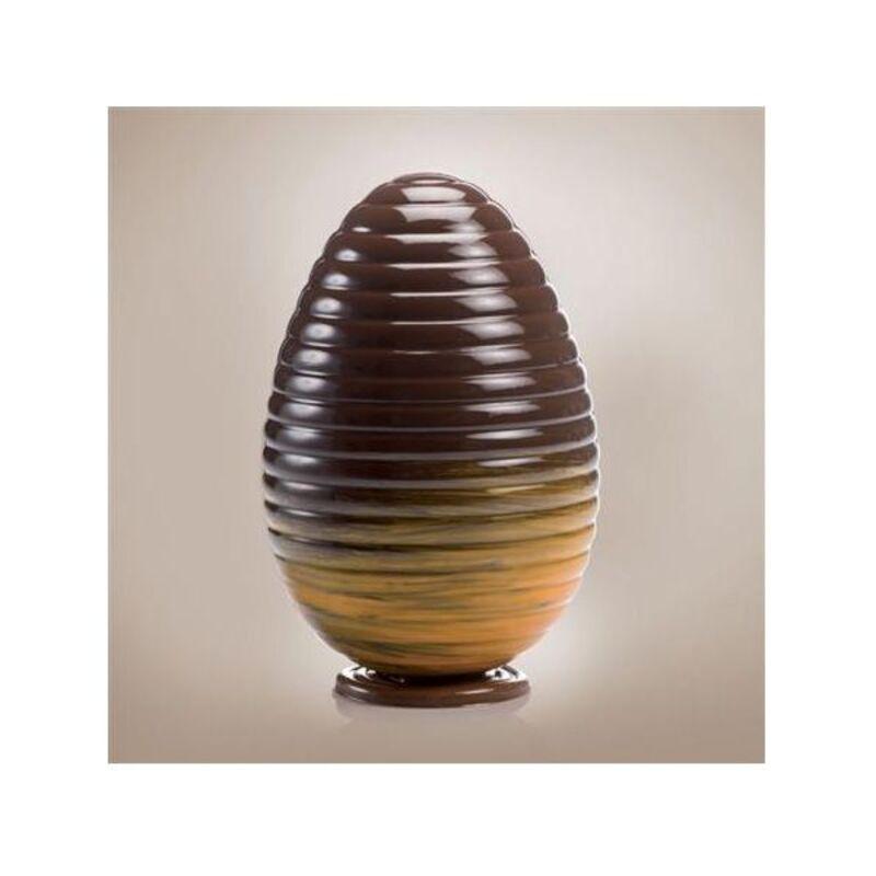 Moule chocolat oeuf strié horizontal