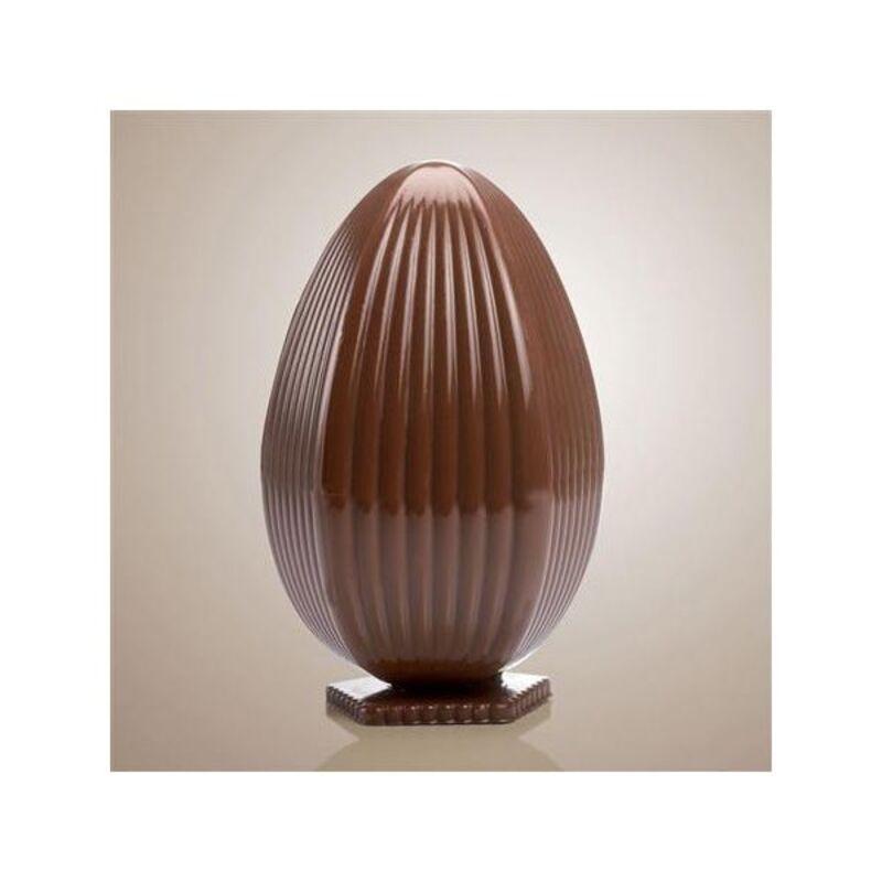Moule chocolat oeuf strié vertical