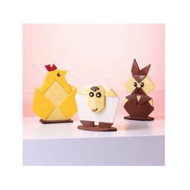 Moule chocolat origami animaux