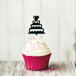 Cupcake Toppers Pièces montées (x8)