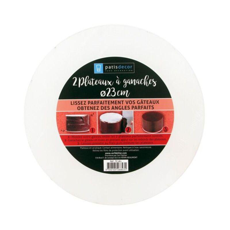 Kit disques de lissage ganache 23 cm (x2)
