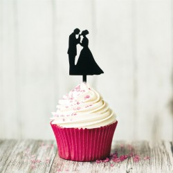 Cupcake Toppers Couples (x8)