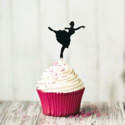 Cupcake Toppers Danseuse (x8)