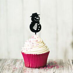 Cupcake Toppers Bonhomme de neige (x8)
