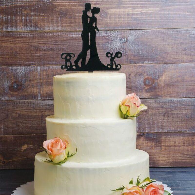 Cake Topper Couple enlacé
