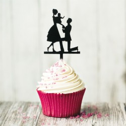 Cupcake Toppers Déclaration (x8)