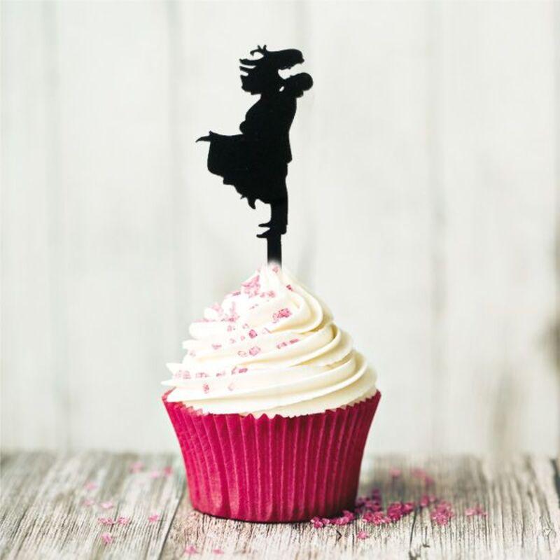 Cake Topper Bonheur (x8)