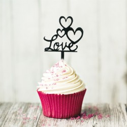 Cake Topper Love (x8)
