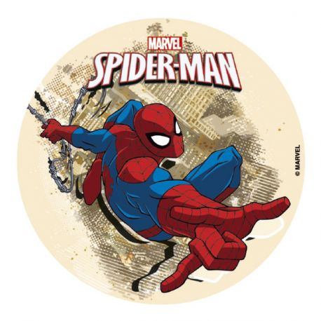 Disque en sucre Spiderman 16 cm