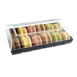 Boîte 12 macarons noire