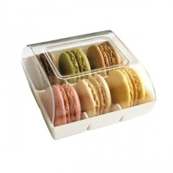 Boîte 6 macarons blanche