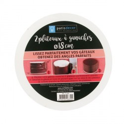 Kit disques de lissage ganache 18 cm (x2)