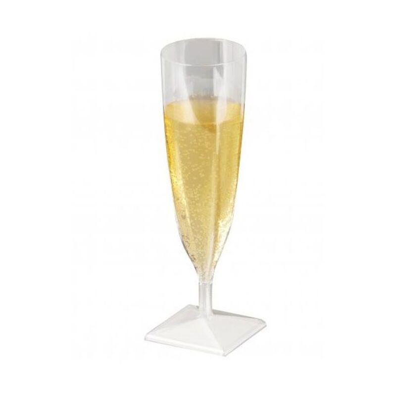Flûtes à champagne plastique cristal 13 cl (x10)