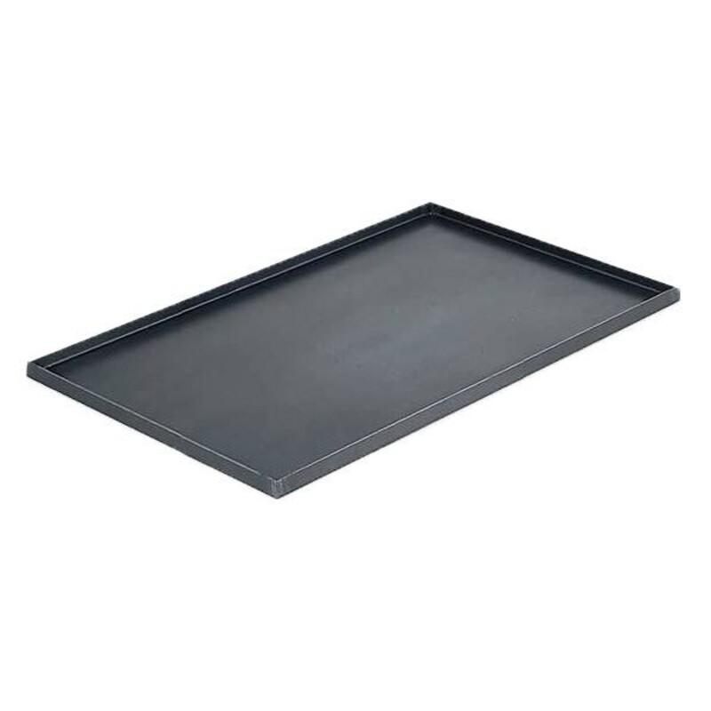 Plaque bords droits en tôle d'acier 40 x 30 cm De Buyer