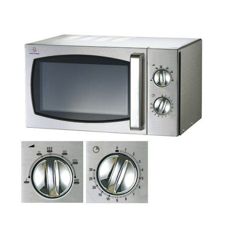Four micro-ondes inox 23L