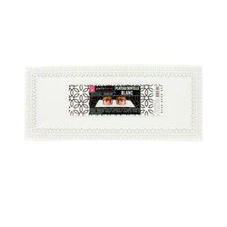 Plat dentelle rectangulaire blanc 13 x 32 cm