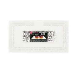 Plat dentelle rectangulaire blanc 19 x 34 cm