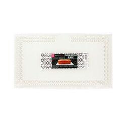 Plat dentelle rectangulaire blanc 22 x 37 cm