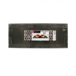 Plat dentelle rectangulaire noir 13 x 32 cm
