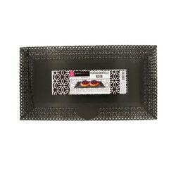 Plat dentelle rectangulaire noir 16 x 30 cm