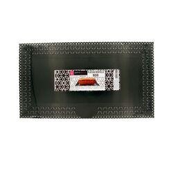 Plateau plastique dentelle noir 19 x 34 cm